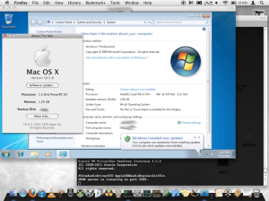 Windows 7 64 bit on PPC OS X